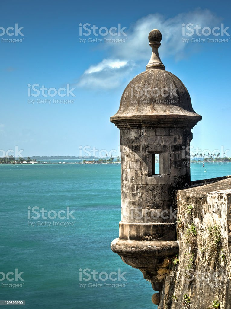 The old fort in San Juan stock photo