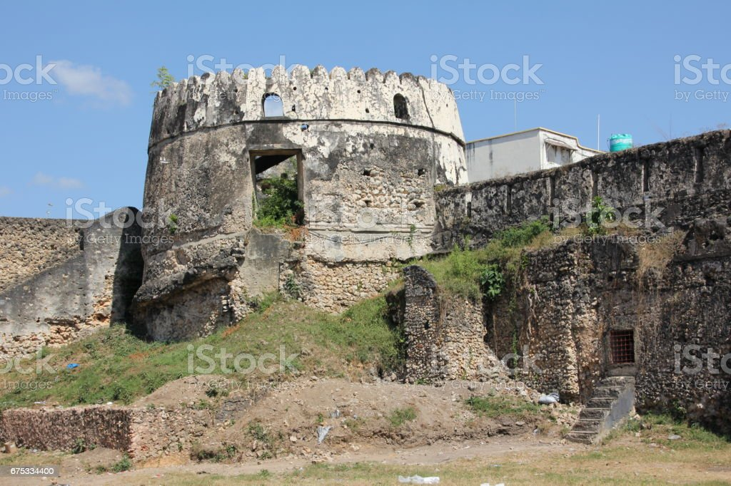 The Old Fort in Stone Town, Zanzibar, Tanzania, Indian Ocean, Africa stock photo