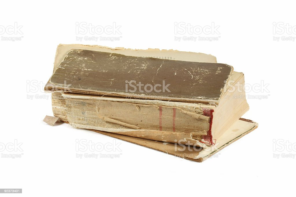 The old, fragmentary book royalty-free stock photo