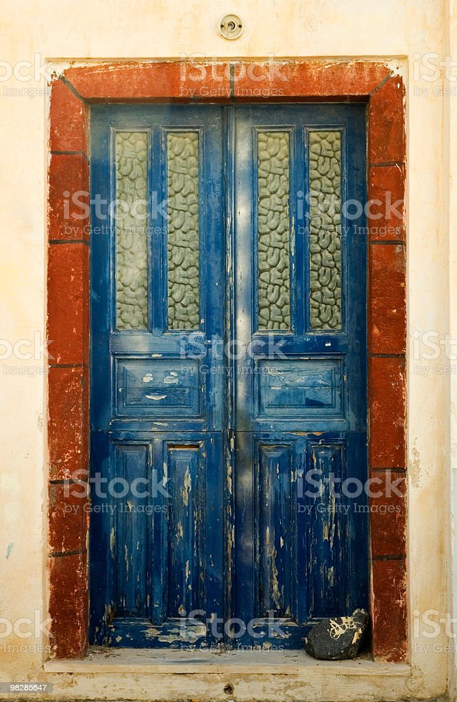 The old front door royalty-free stock photo