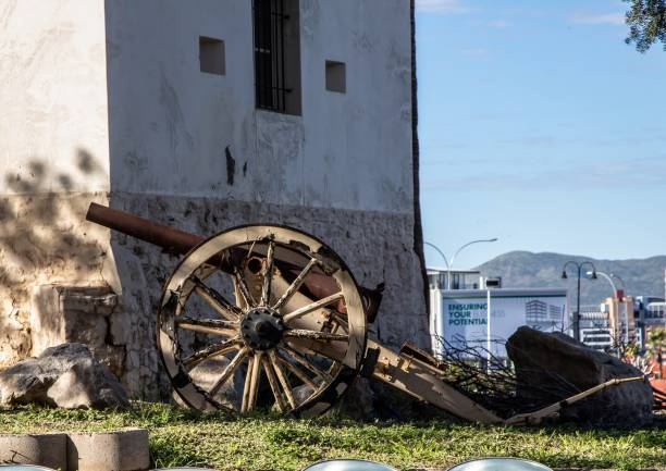 The old German fortress in Namibia's capital Windhoek stock photo