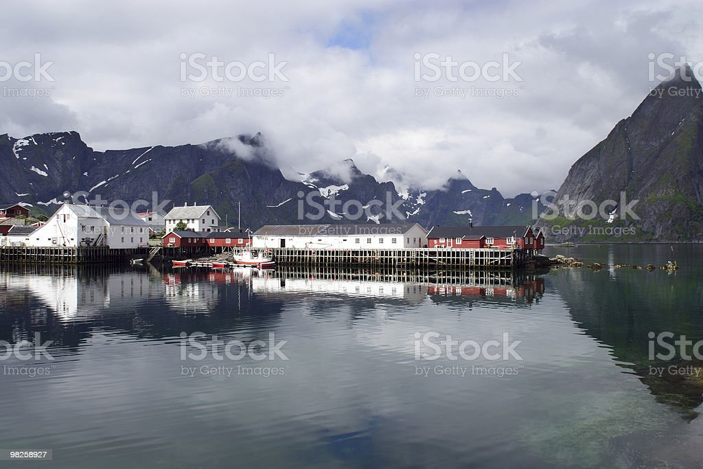 The old haven of Hamnoy. royalty-free stock photo