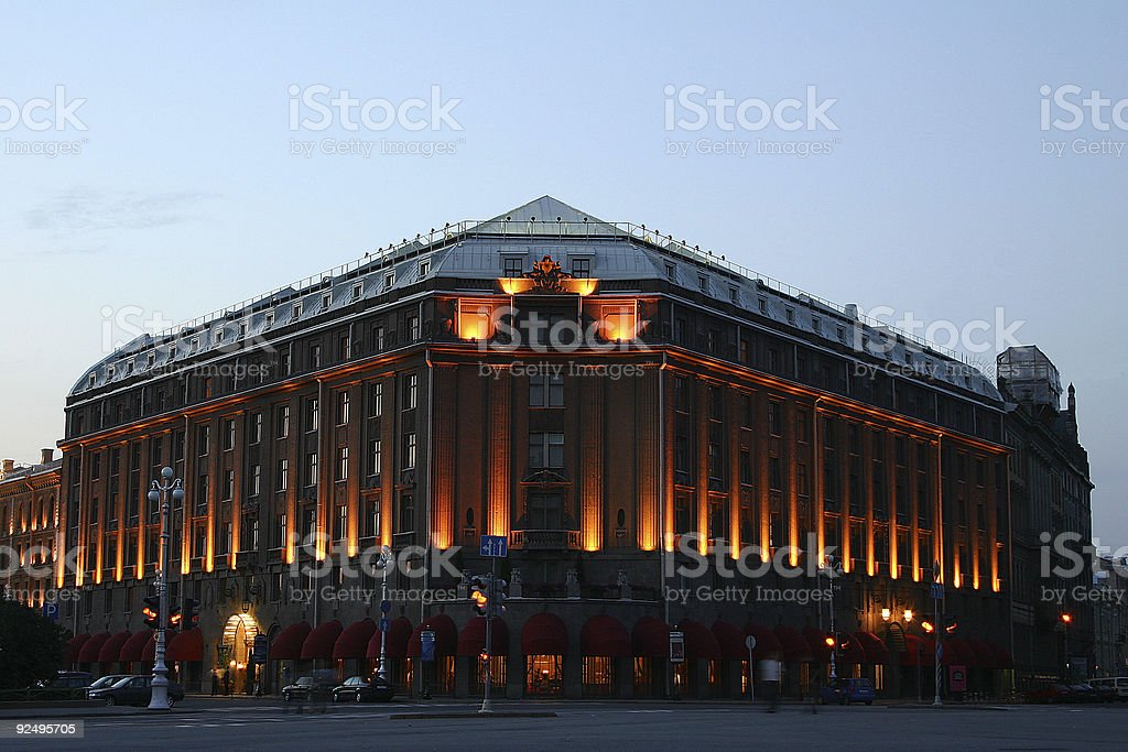 The old hotel royalty-free stock photo