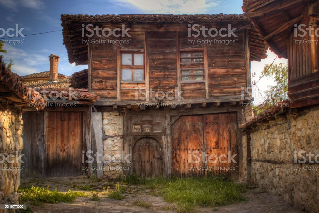The old house in Koprivshtica vilages stock photo
