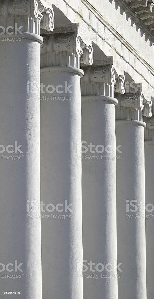 The old house with columns royaltyfri bildbanksbilder