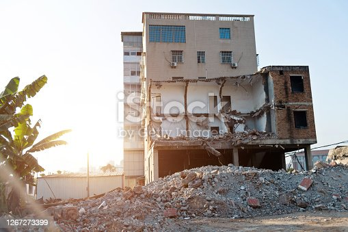 The old houses was demolished.