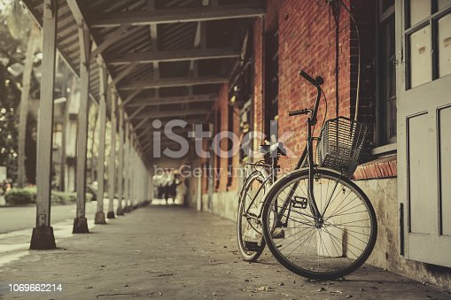 The old houses with old bicycles, Taipei, Taiwan