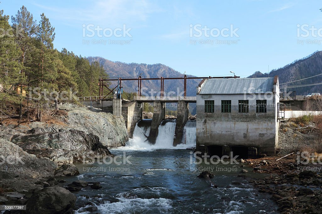 The old hydroelectric power station stock photo