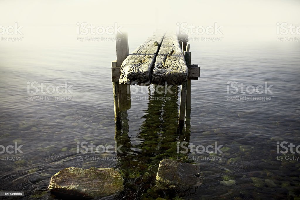 the old jetty royalty-free stock photo