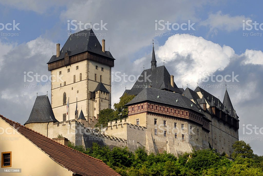the old Karlstejn castle stock photo