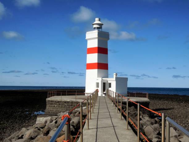 The Old Lighthouse Cafe, Iceland stock photo