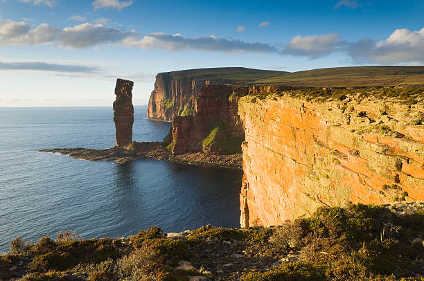 The Old Man of Hoy in evening light stock photo