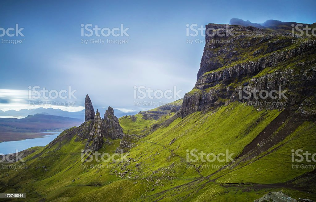The Old Man of Storr, Isle of Skye, Scotland, UK stock photo