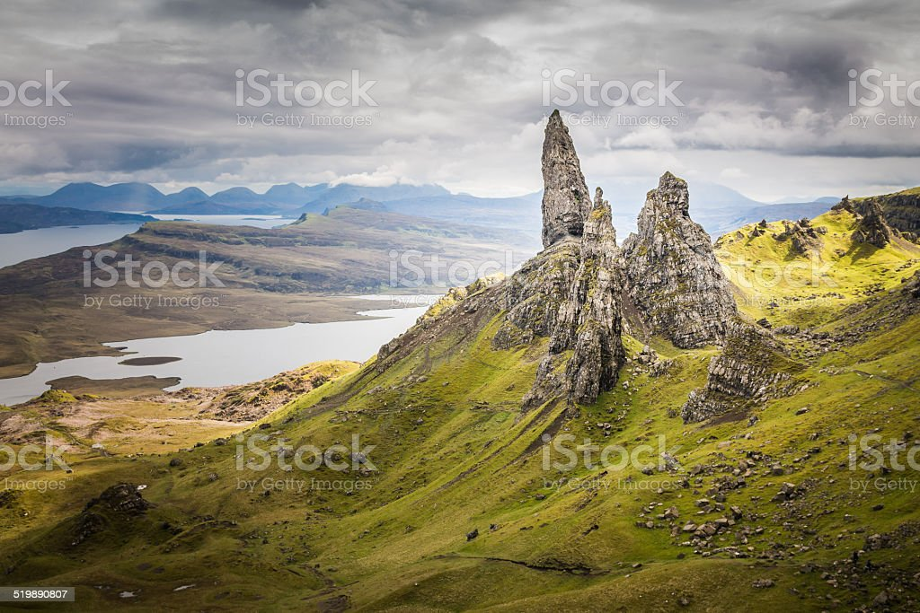 The Old Man of Storr on the Isle of Skye stock photo
