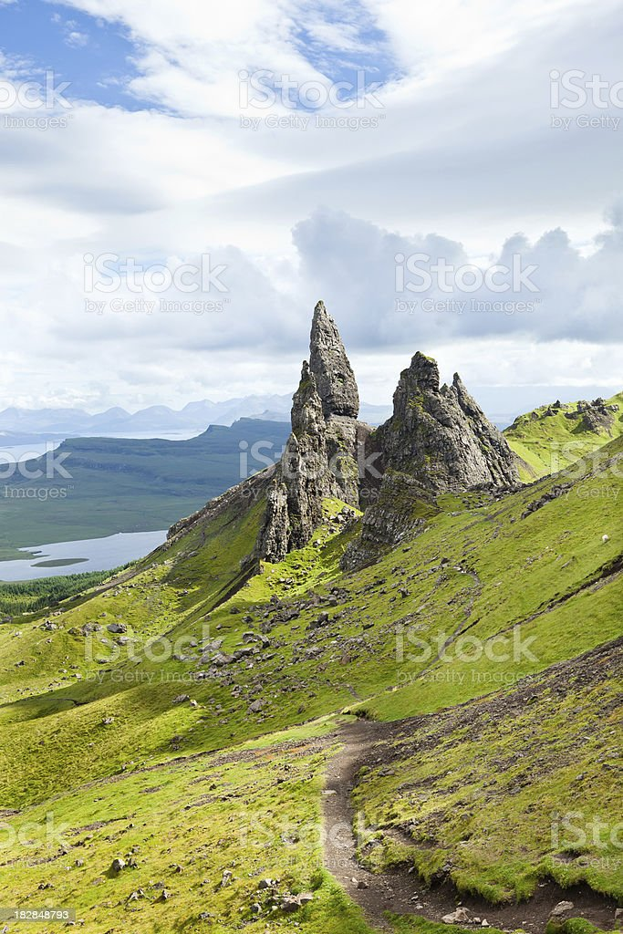 The Old Man of Storr stock photo