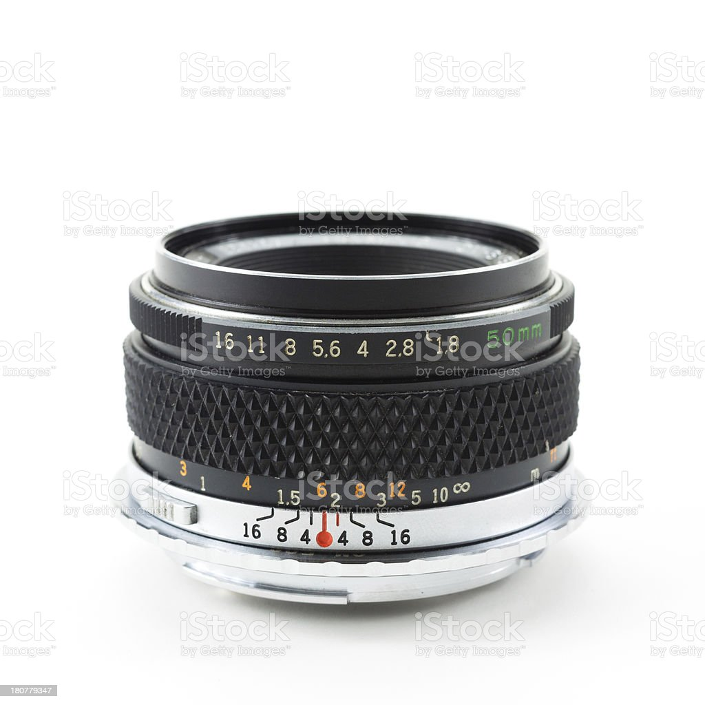 The old manual lens royalty-free stock photo