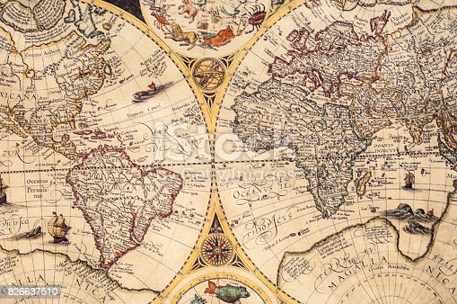 istock The old maps 826637510