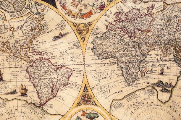 The old maps stock photo