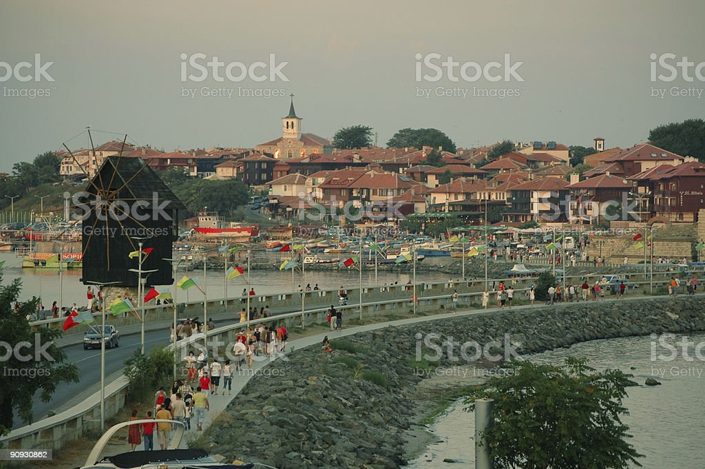 The Old Nessebar stock photo