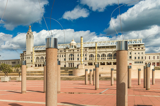 The old Olympic stadium of Barcelona, Spain