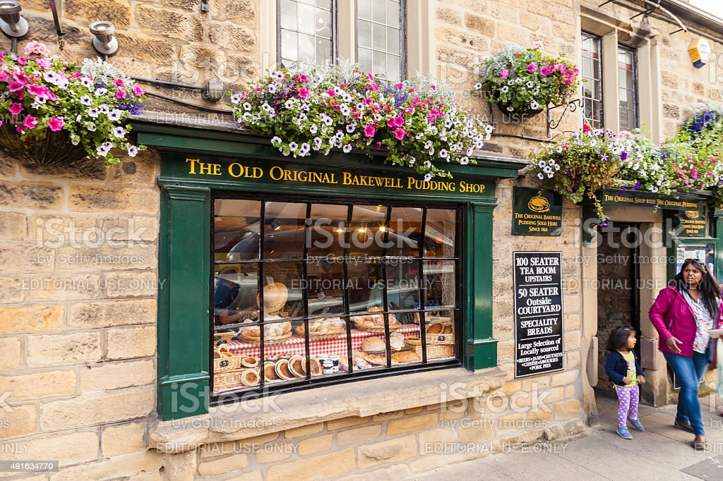 The Old Original Bakewell Pudding Shop in Bakewell, Derbyshire, stock photo