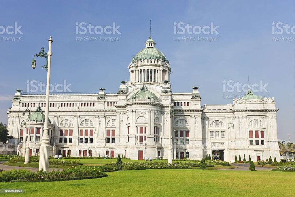 The Old Parliament Building In Bangkok, Thailand stock photo