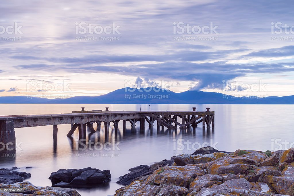 The Old Pier at Portencross Seamill North Ayrshire stock photo