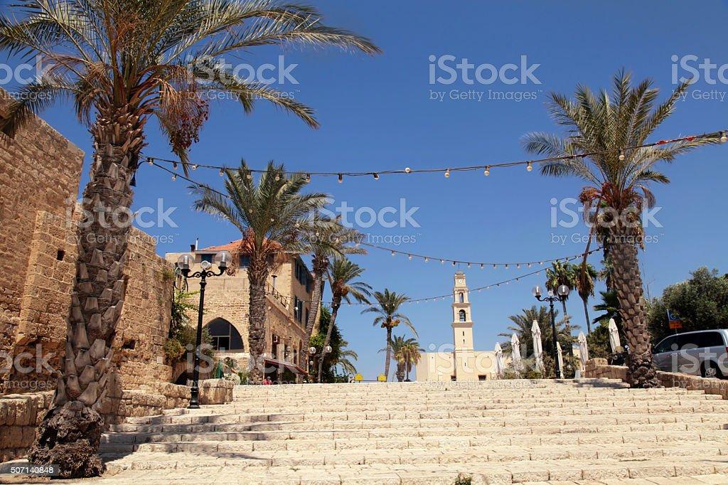The old port city of Jaffa in Tel Aviv, Israel. stock photo