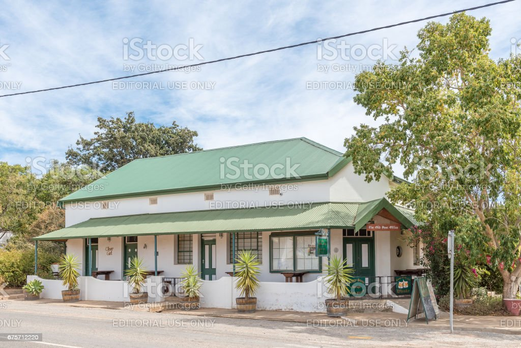 The Old Post Office, a restaurant in McGregor 免版稅 stock photo
