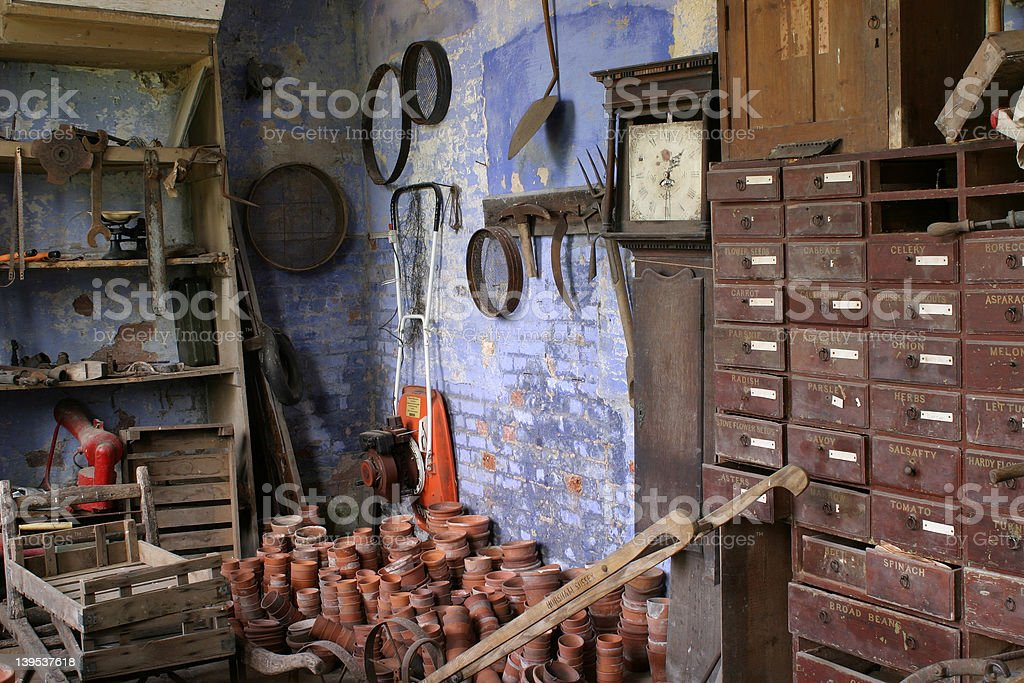 The Old Potting Shed royalty-free stock photo