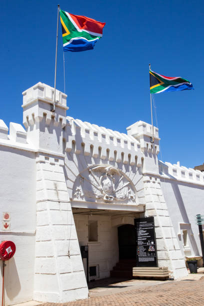 The old prison fort in Johannesburg stock photo