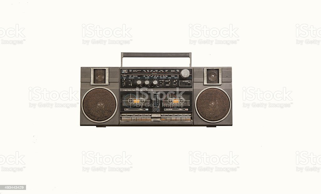 the old Radio and cassette player royalty-free stock photo