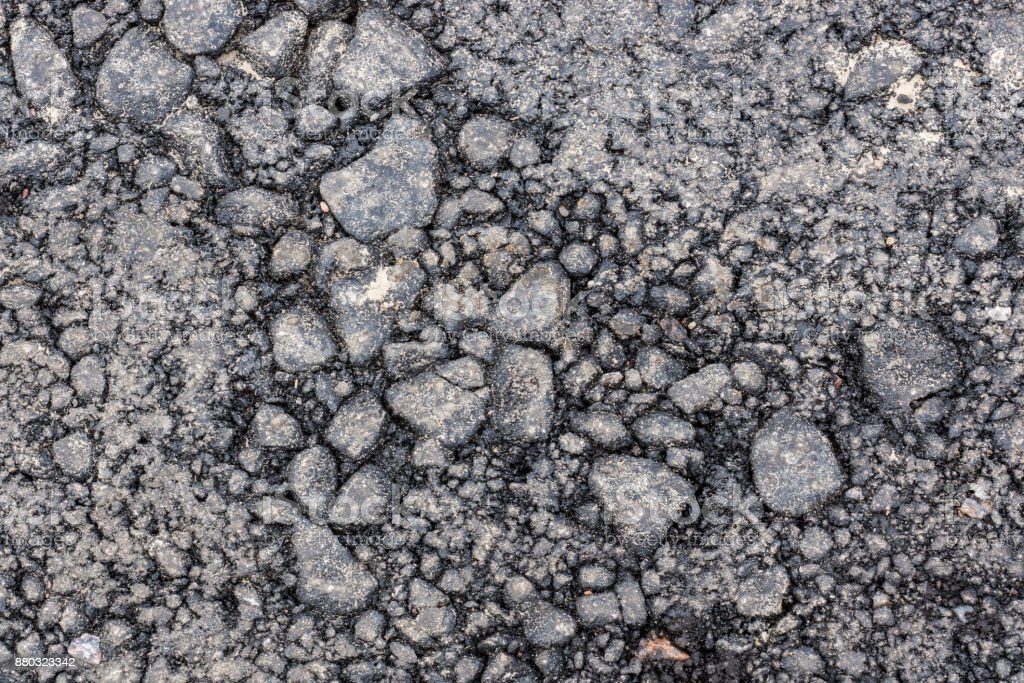 The old ruined asphalt pavement background texture waitinf for repair stock photo