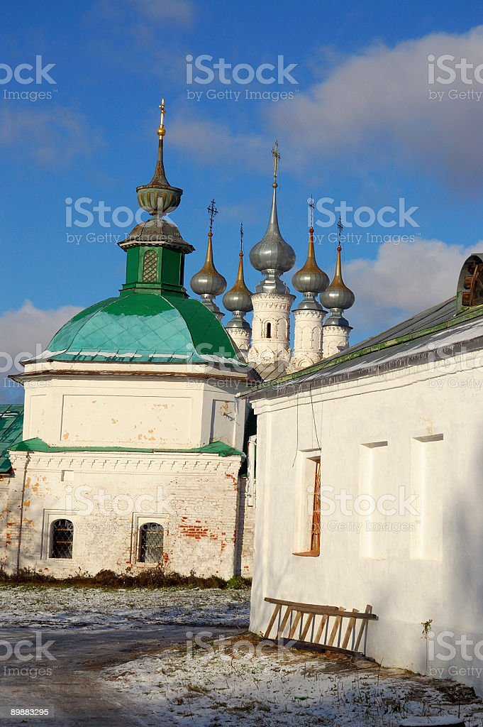 the old russian cathedral royalty-free stock photo