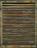 The old rusty grille. Industrial ventilation