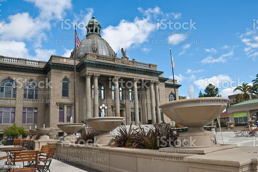 Historic San Mateo County Courthouse stock photo
