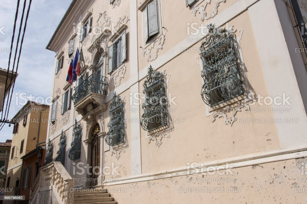 The old school of Music in Izola stock photo