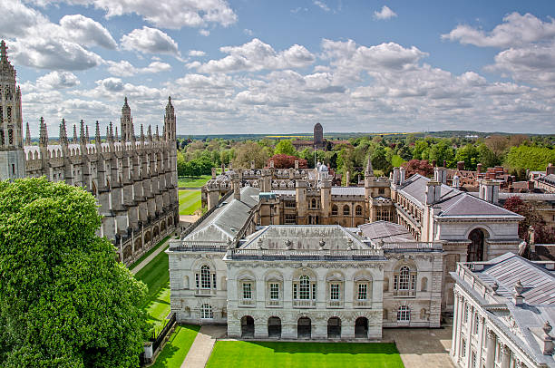 The Old Schools of Cambridge University stock photo
