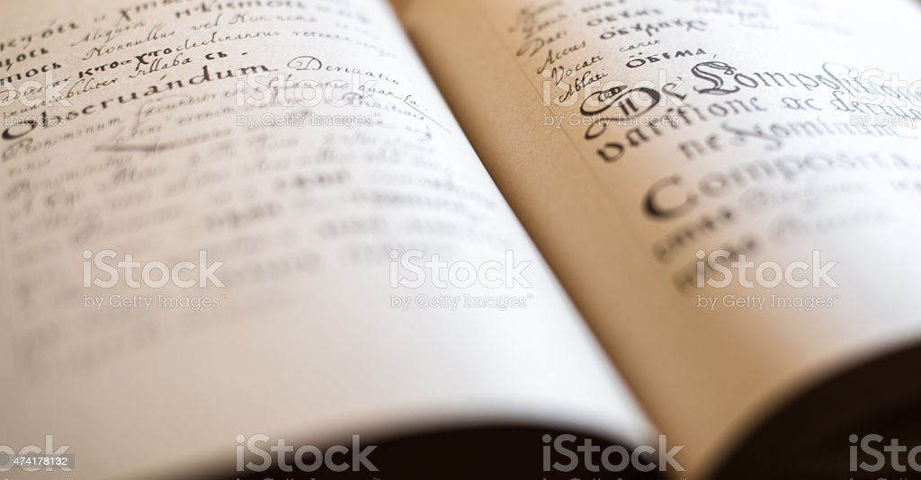 The Old Slavonic Grammar stock photo