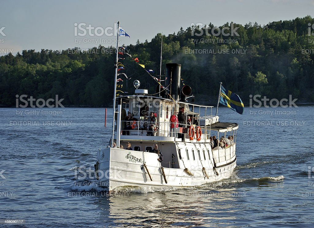 The old steamship Ejdern stock photo