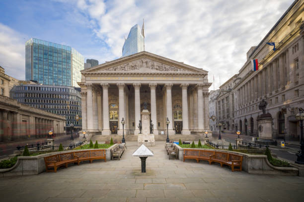 The old Stock Exchange Building, London stock photo