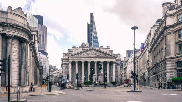 The old Stock Exchange Building, London / UK stock photo