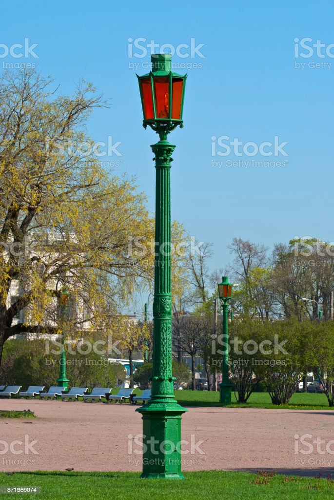 The old street lamp. stock photo