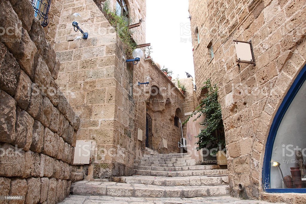 The old streets of Jaffa, Israel stock photo