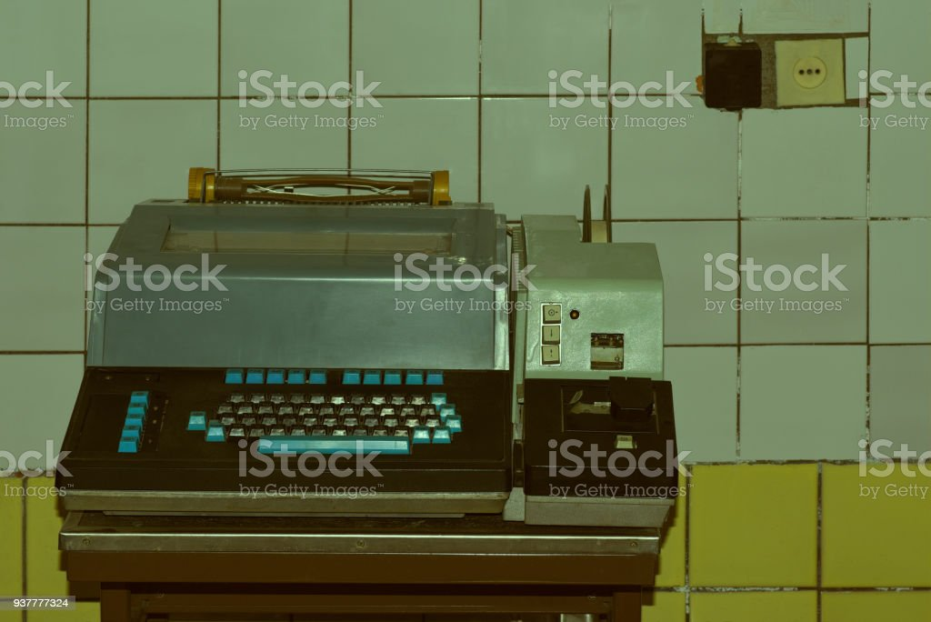 The old telegraph. The ancient technological devices for military and civilian purpose. stock photo