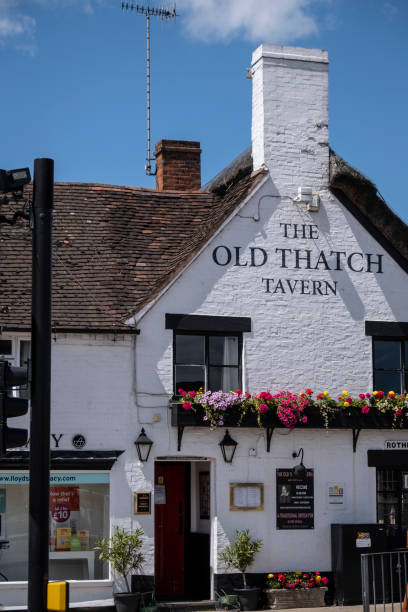 The Old Thatch Tavern stock photo