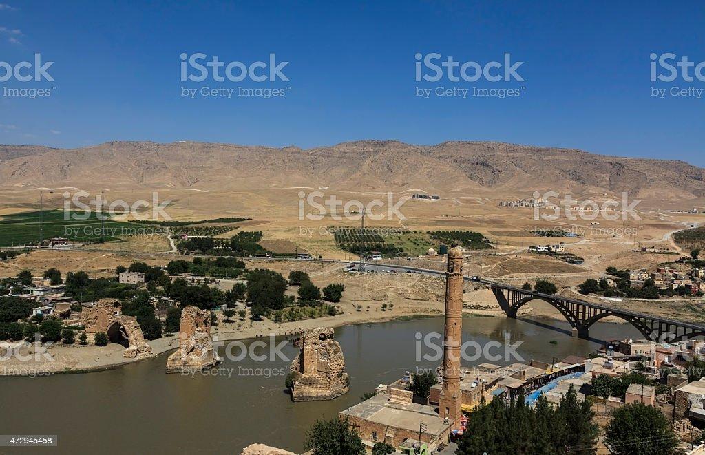 The Old Tigris Bridge stock photo