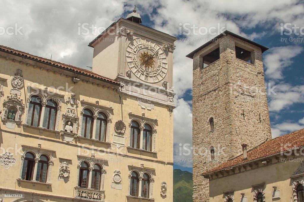 Il vecchio towers di Belluno, Italia - foto stock