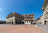 Bern, Switzerland - Jully 19, 2019:The old Town centre in Bern