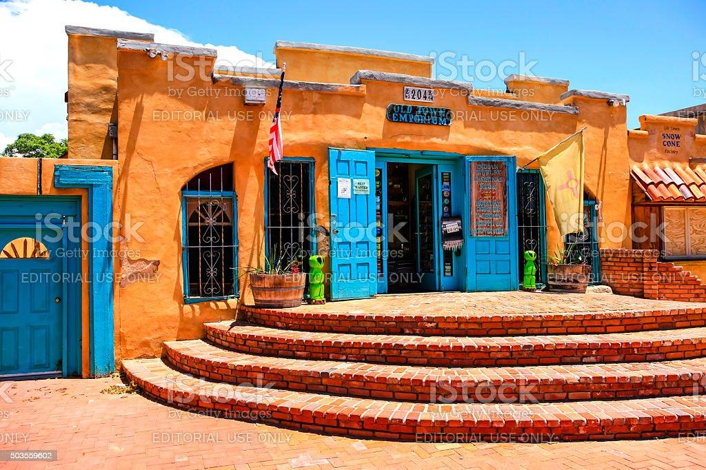 The old town emporium store in Albuquerque NM stock photo